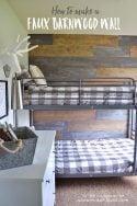 Faux barnwood wall
