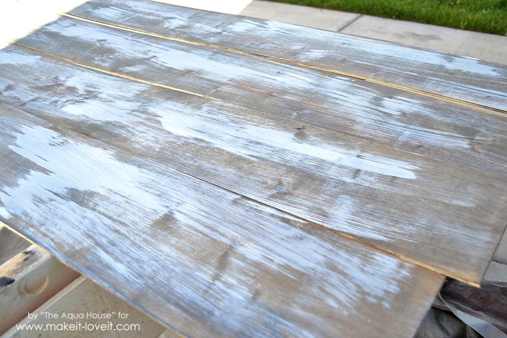 Faux barnwood wall (2)