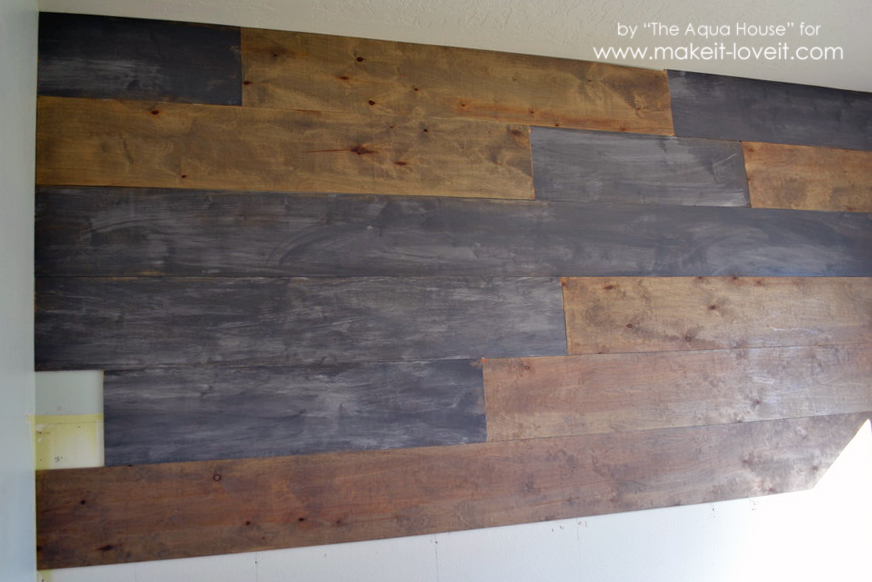 Faux barnwood wall (5)