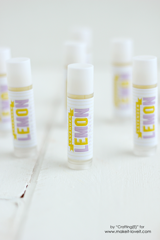 Make your own Lavender Lemon Lip Balm   via www.makeit-loveit.com