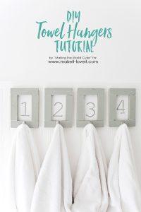 diy towel hangers tutorial
