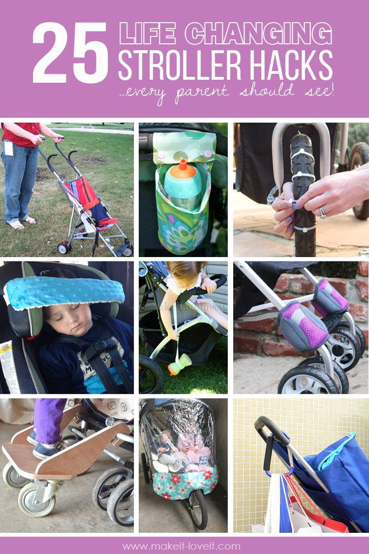25 Life-Changing Stroller Hacks…EVERY parent should see!