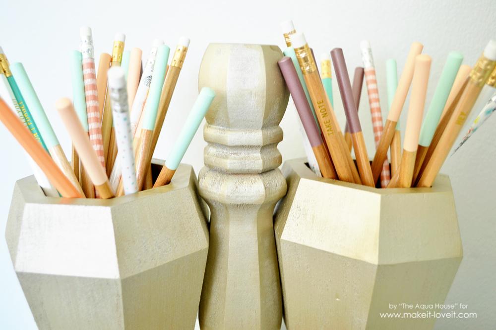 DIY Desktop Pencil Caddy | via www.makeit-loveit.com