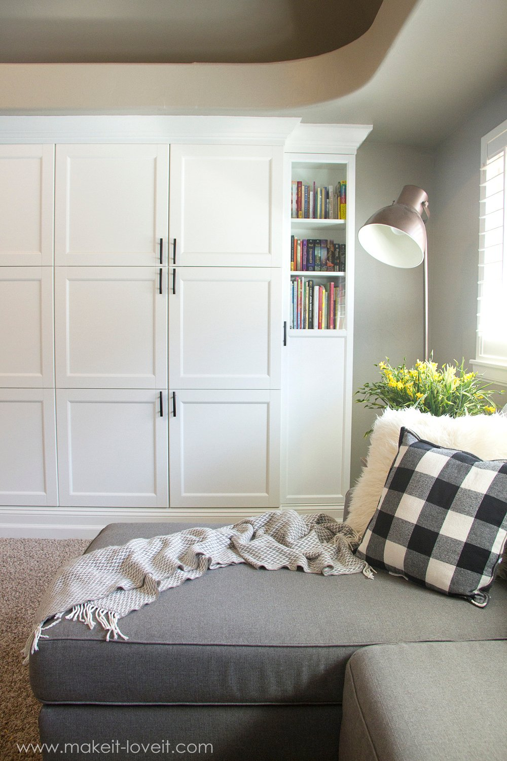 How to Turn IKEA Bookshelves into CUSTOM BUILT-INS