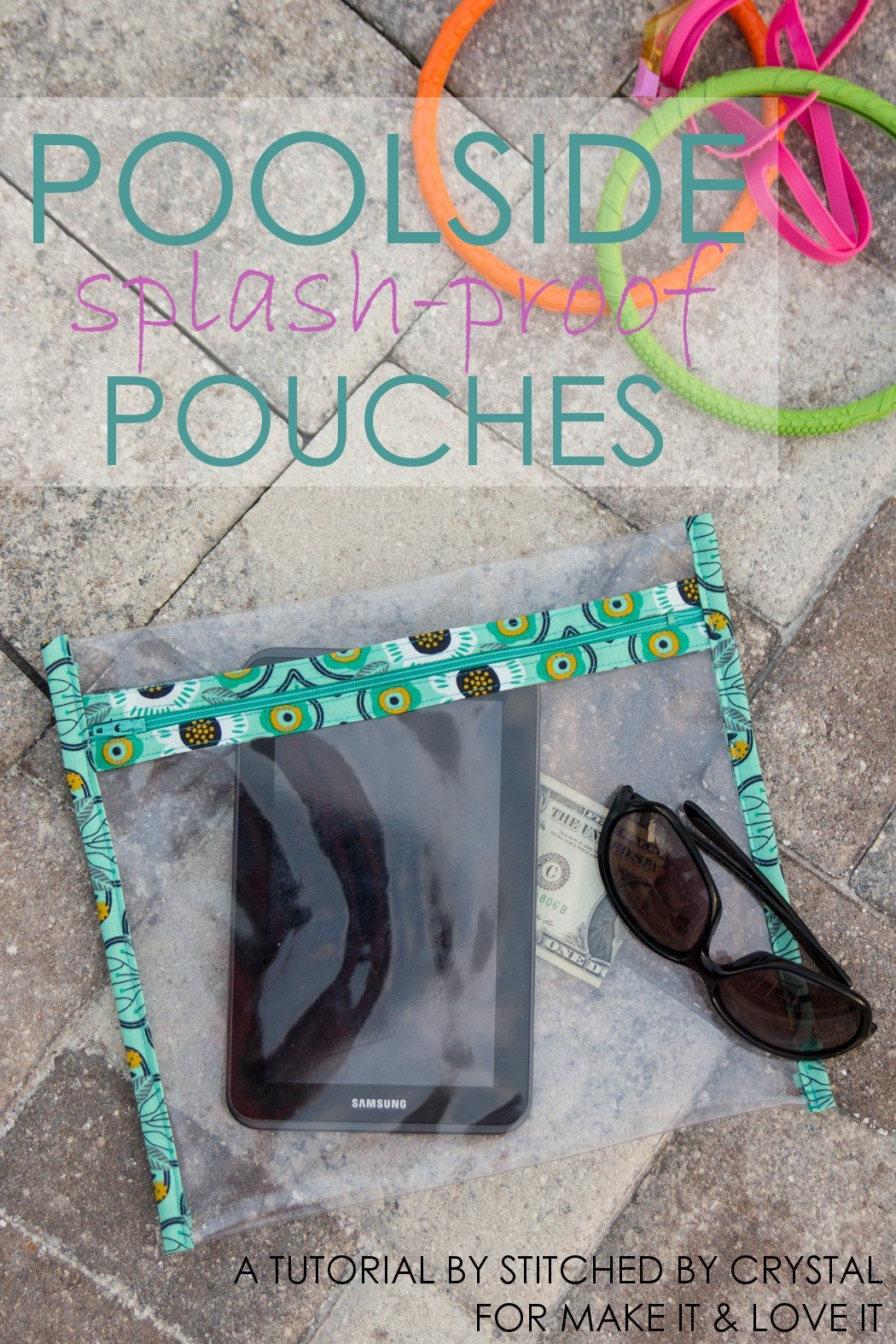 DIY Poolside Splash-Proof Pouches