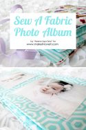 sew a fabric photo album