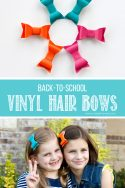 DIY Vinyl Hair Bows...for BACK-TO-SCHOOL!! | via www.makeit-loveit.com