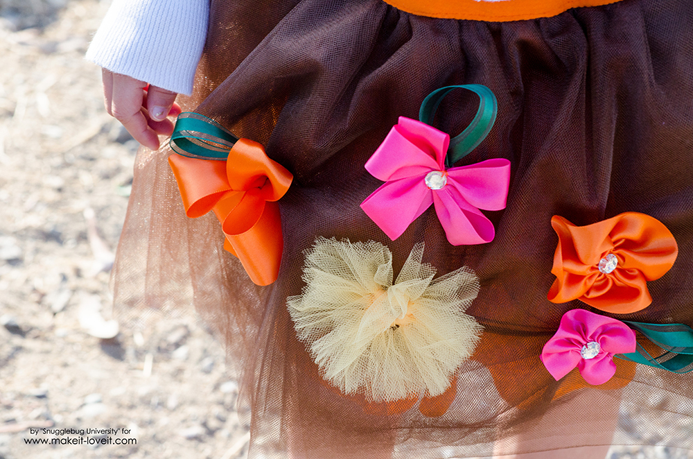DIY Tulle Skirt with Ribbon Flowers | via Make It and Love It
