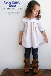 sweet child's dress with free pattern