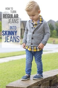 How to turn REGULAR Jeans...into SKINNY Jeans! | via www.makeit-loveit.com