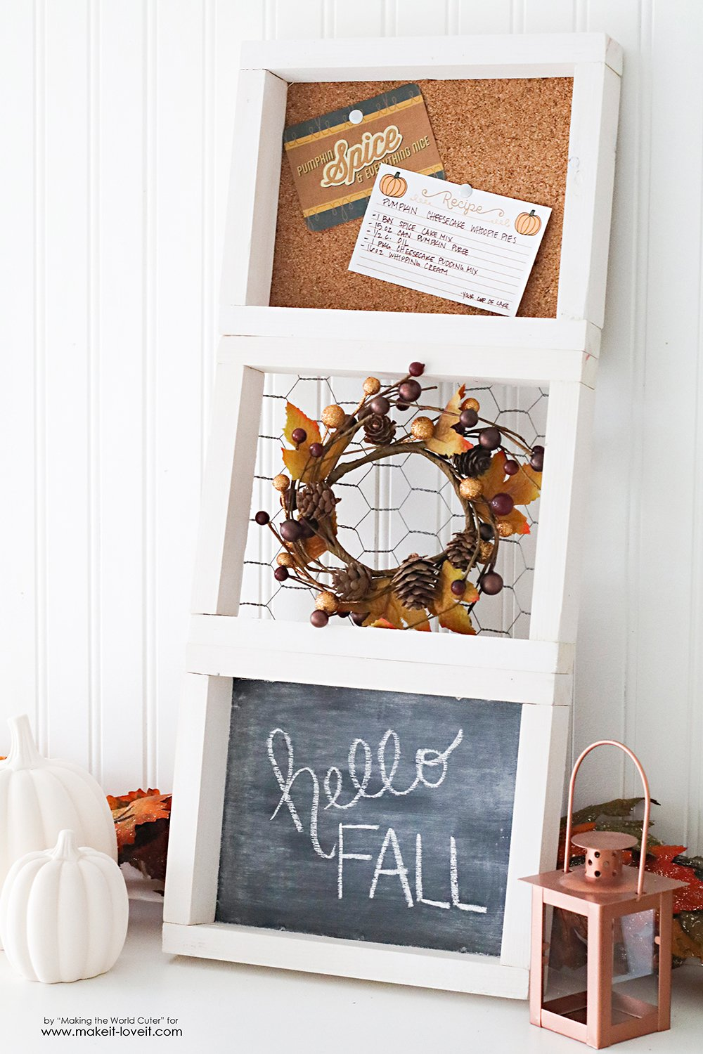 "3 Easy Diy Storage Ideas For Small Kitchen: Easy DIY 3-Tiered ""Fall"" Frame"