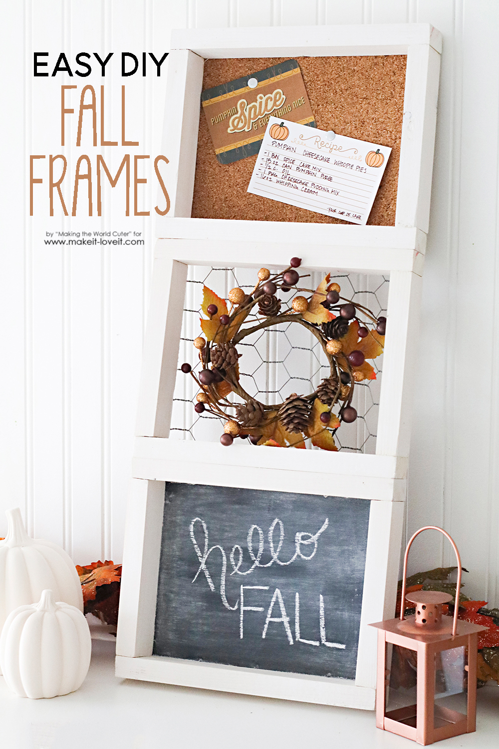 "Easy DIY 3-Tiered ""Fall"" Frame"