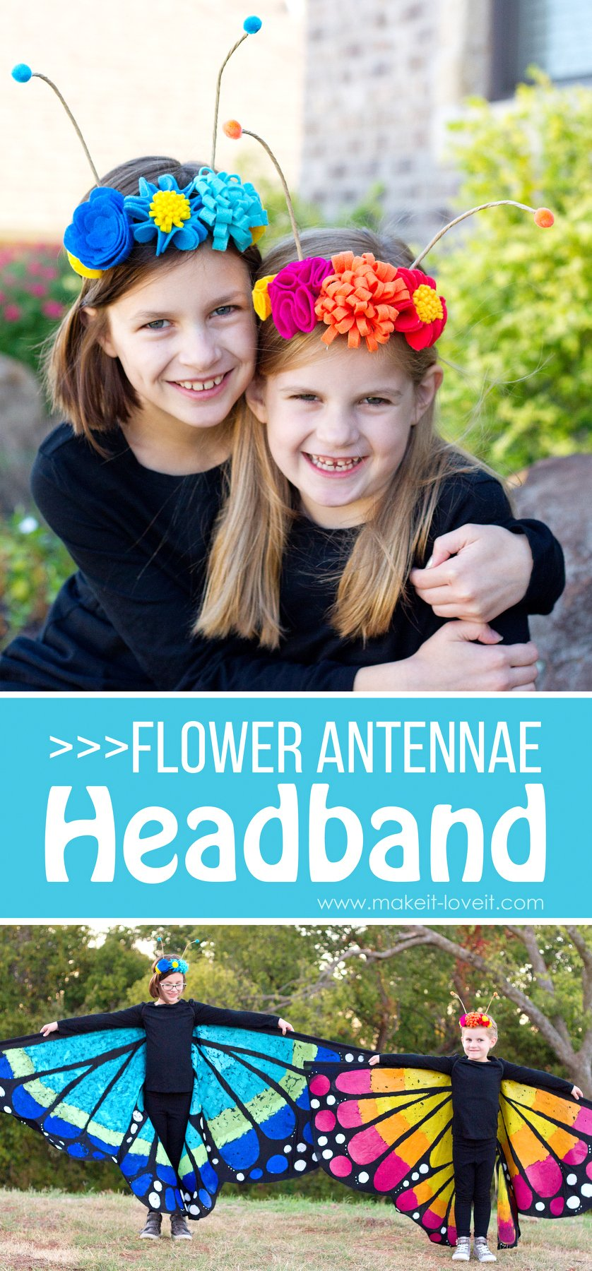 Flower Antennae Headband (…for the Butterfly Costume)