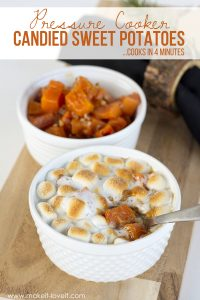 Pressure Cooker CANDIED SWEET POTATOES...cooks in 4 minutes! | via www.makeit-loveit.com