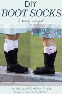 DIY Boot Socks…2 easy methods!