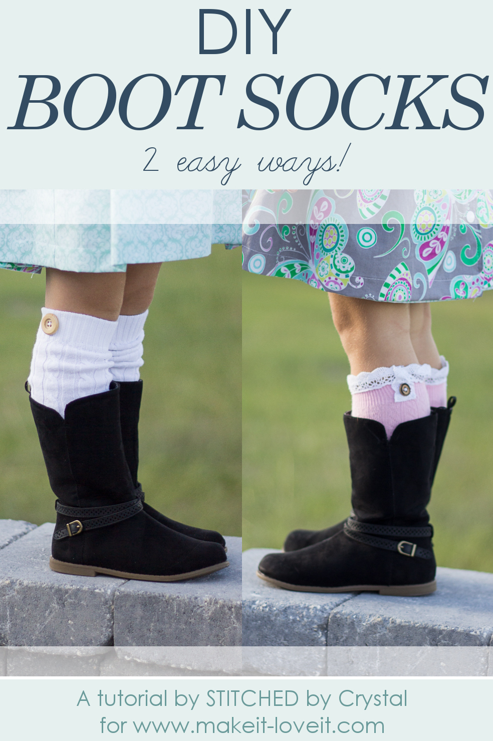 DIY Boot Socks…2 easy methods!