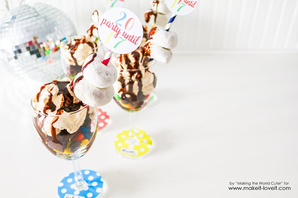 2017 New Year's Eve Party Printables and Candy Parfait Recipe