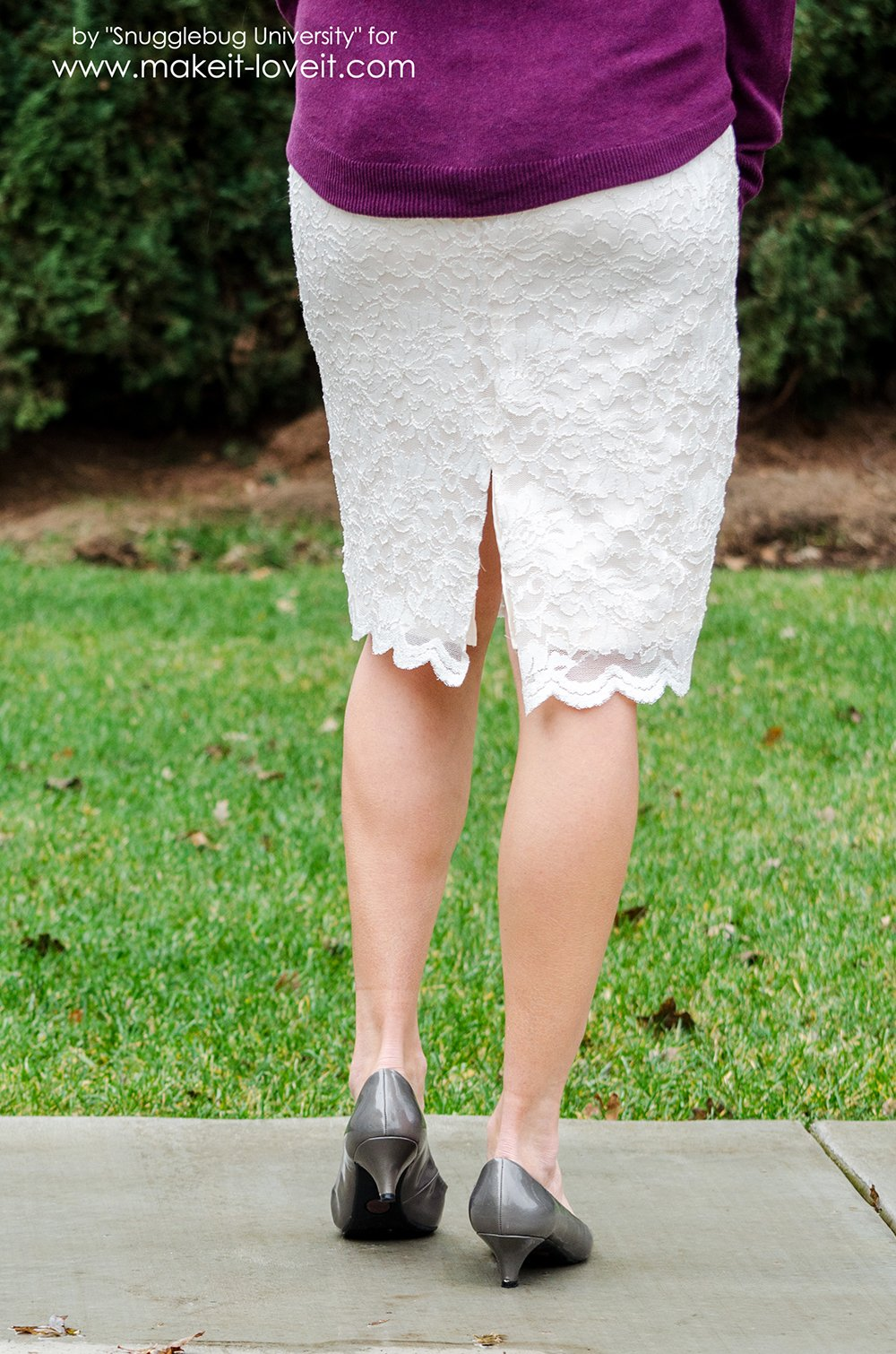 gorgeous diy lace pencil skirt make it and it