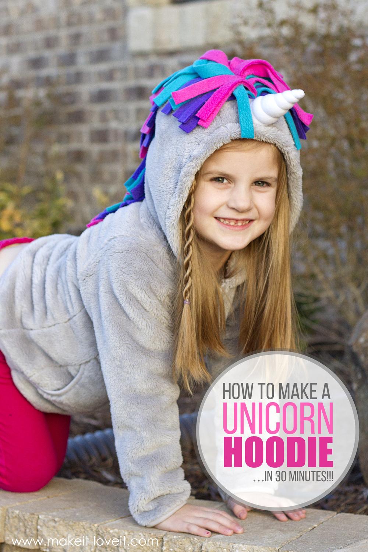 Make a UNICORN HOODIE…in 30 minutes!