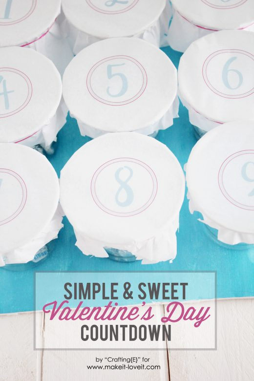 Valentine's Day Countdown...simple & sweet! | via Make It and Love It