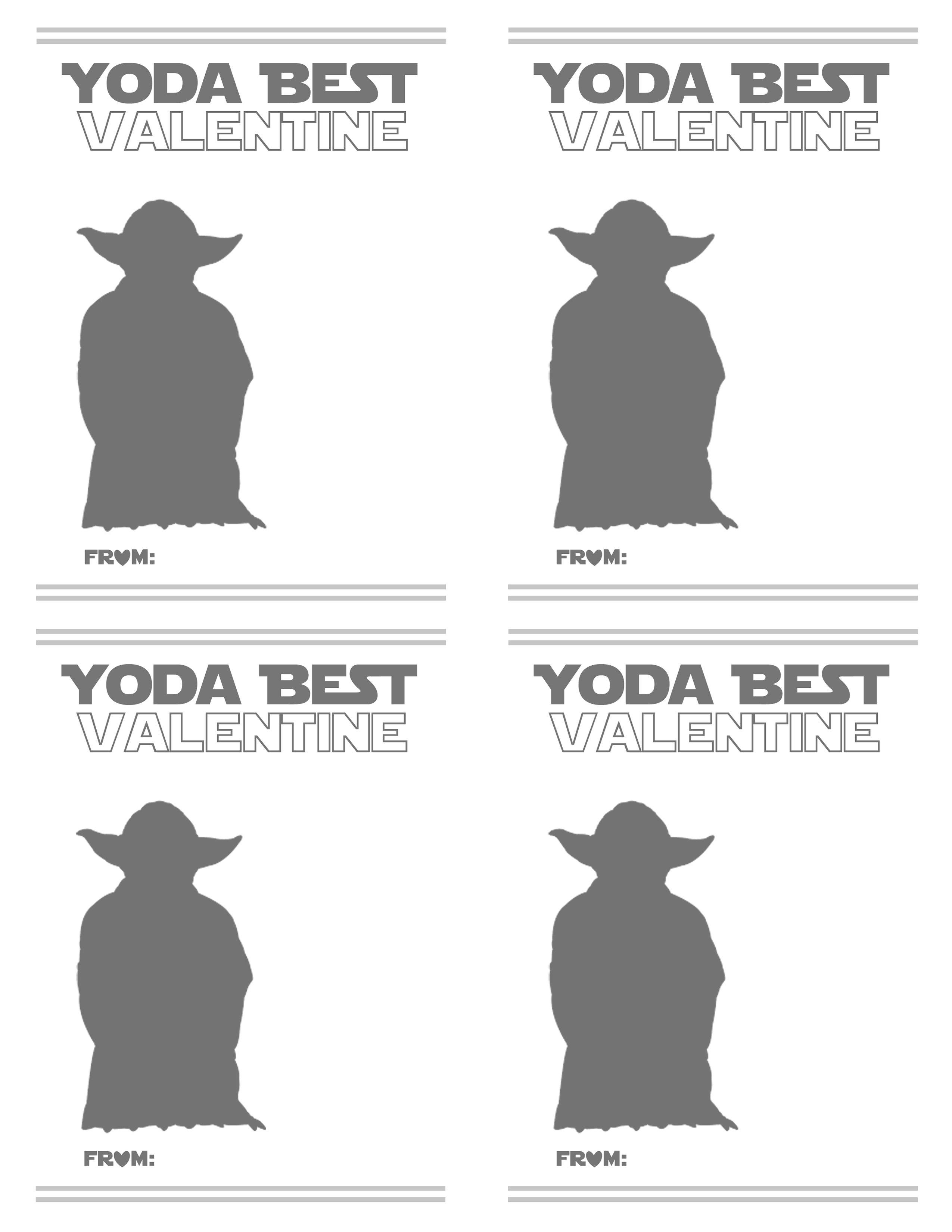 F R E E Valentine Card Printables Star Wars and gummy worm – Valentines Card Printable Free