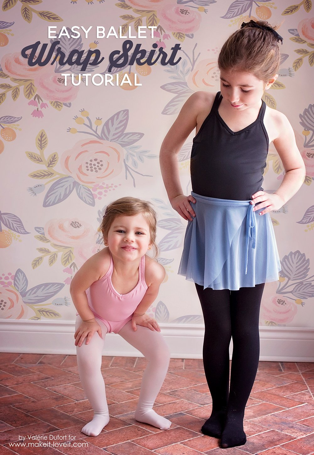 Easy Ballet Wrap Skirt Tutorial | via www.makeit-loveit.com