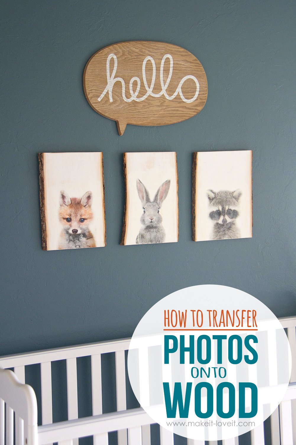 How to transfer photos onto wood for our nursery decor for How do i transfer a picture onto wood