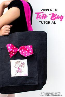 Zippered Tote Bag Tutorial