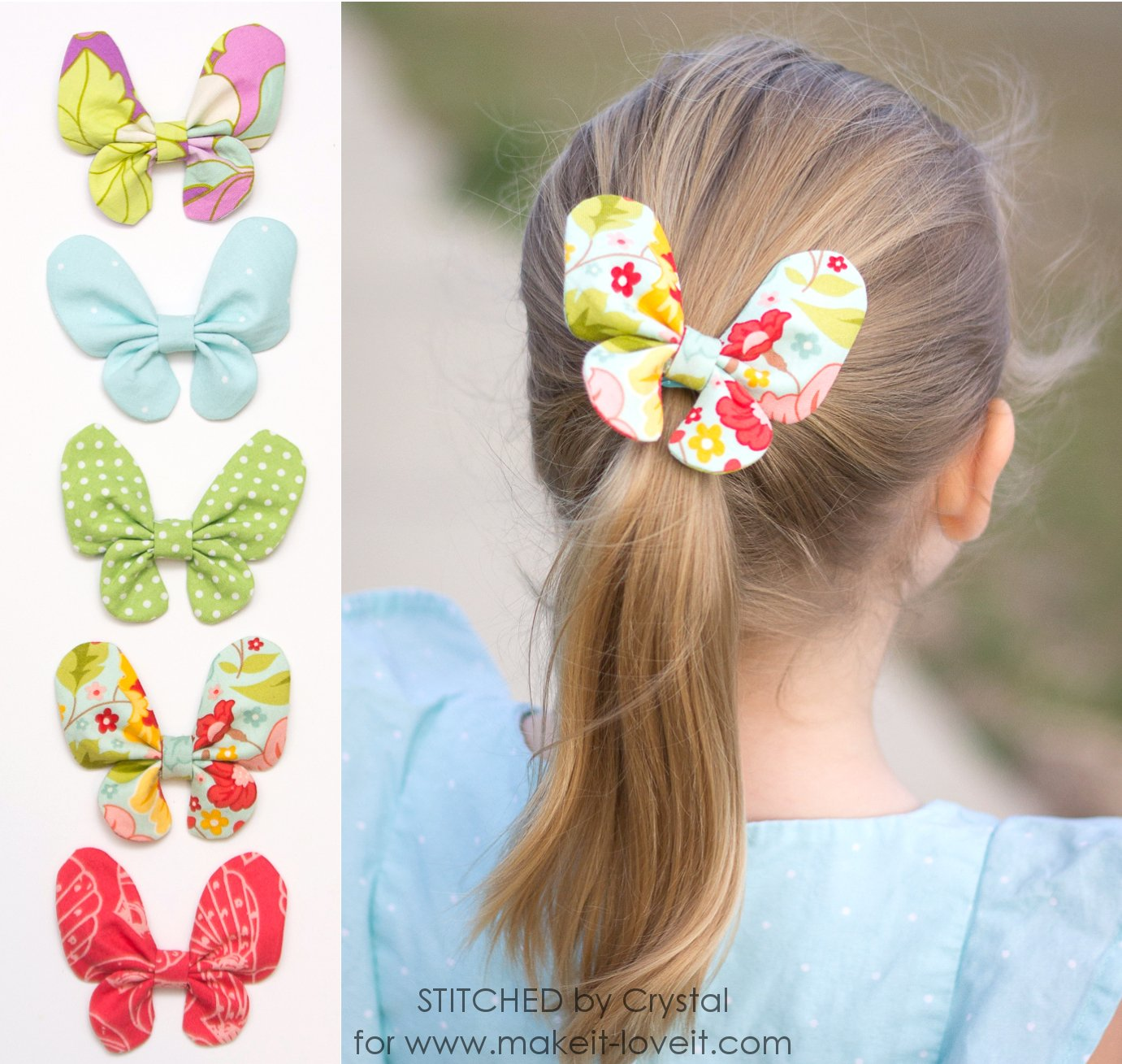 Butterfly hair bow tutorial butterfly hair bow tutorial via makeit loveit baditri Image collections