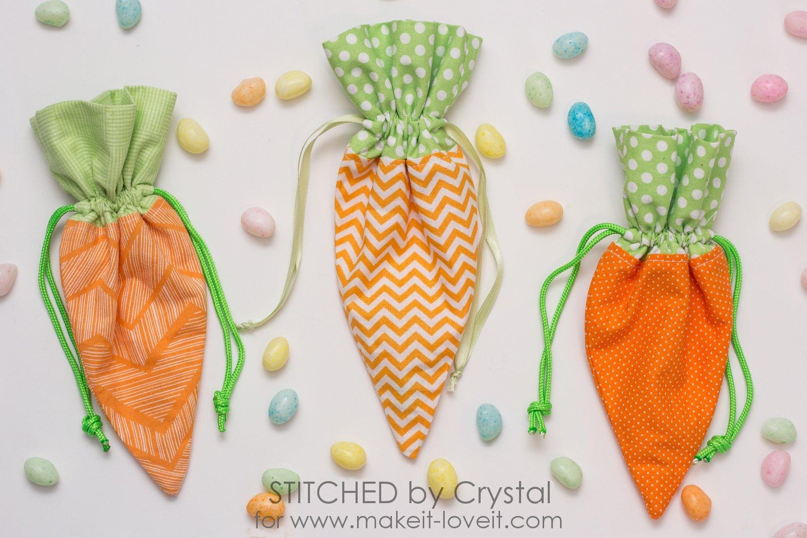 Sew a DIY Carrot Treat Bag for Easter!   via www.makeit-loveit.com