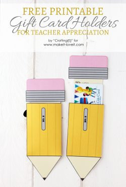 Teacher Appreciation Gift Card Holders