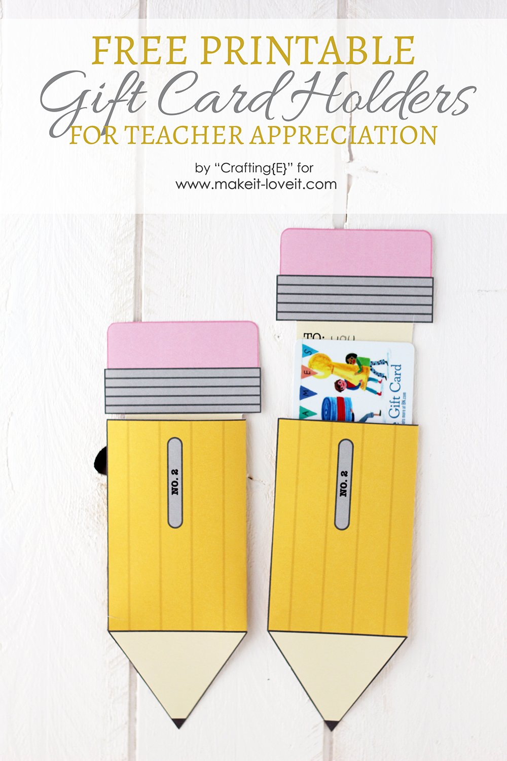 Teacher Appreciation Gift Card Holders | Make It and Love It