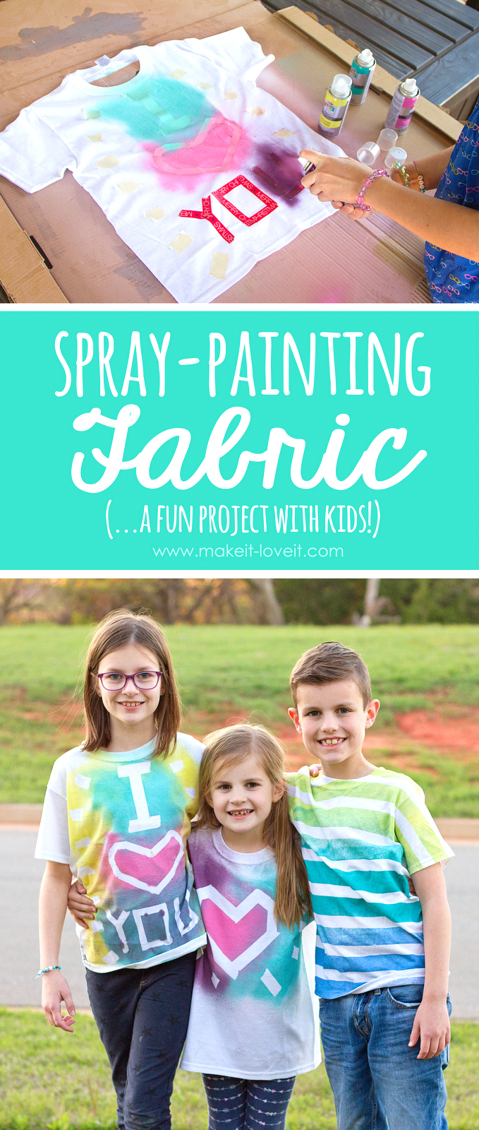 spray painting fabric a fun project with kids make it