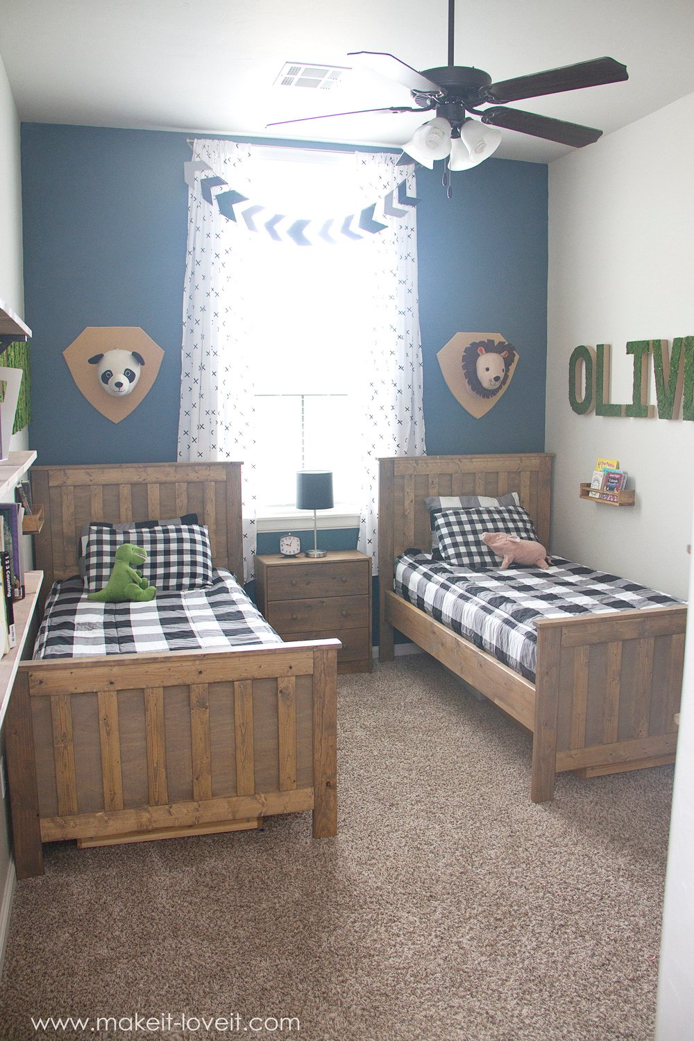 Room For Girls Design: Ideas For A Shared BOYS Bedroom (…yay, All Done!!)