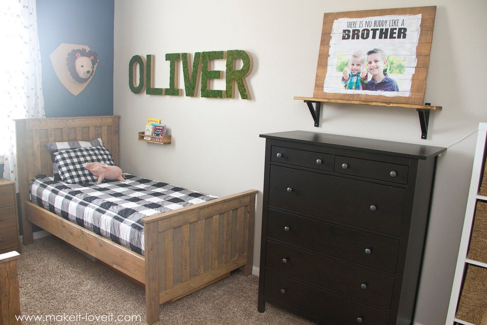 Best And do you see that picture of Connor and Oliver above the dresser Yep another picture that I printed out on my puter and transferred onto a wood