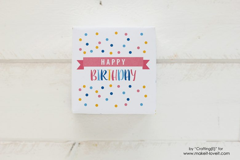 Free Printable Birthday Box Gift quick and simple