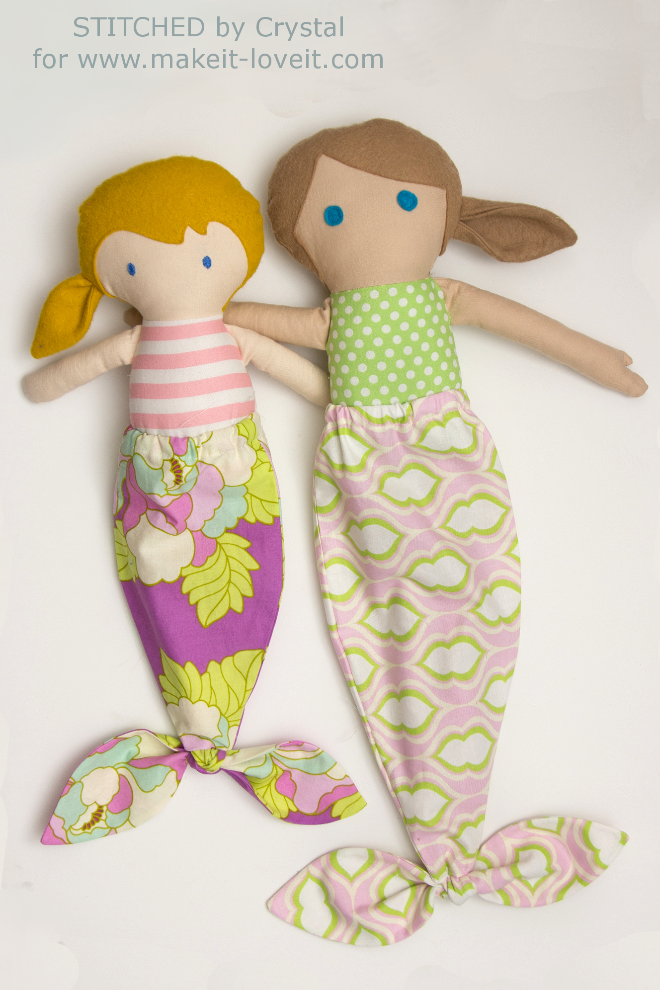 Sew a Mermaid Tail For Any Size Doll! | via www.makeit-loveit.com