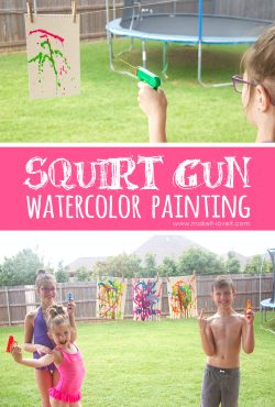 Squirt Gun Watercolor Painting....a fun summer project!!