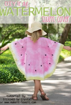 Sew a Tie-Dye Watermelon Swim Cover!