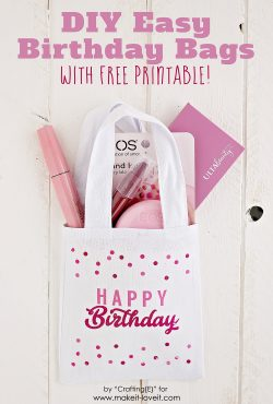 DIY Birthday Gift Bag