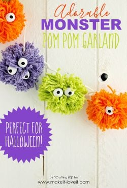 DIY Pom Pom Monster Garland