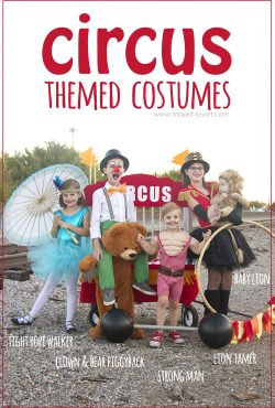 DIY CIRCUS Themed Costumes...all 5 KIDS (plus a VIDEO)!!!