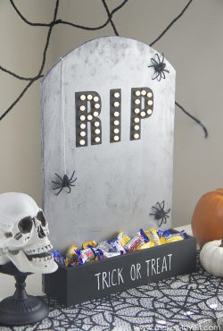 DIY Tombstone Candy Holder (...that lights up!)