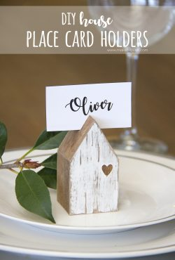DIY House Place Card Holders