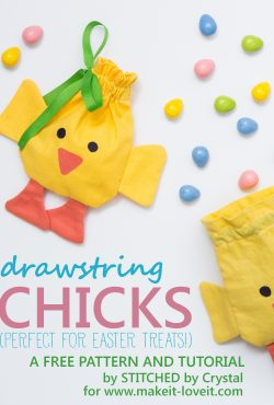 Sew a Drawstring Chick Treat Bag for Easter!