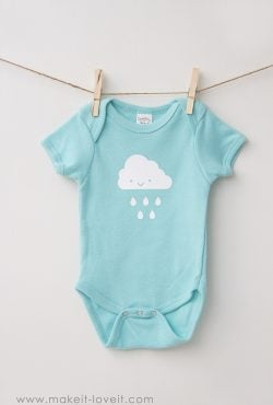Simple DIY Baby Onesie Ideas