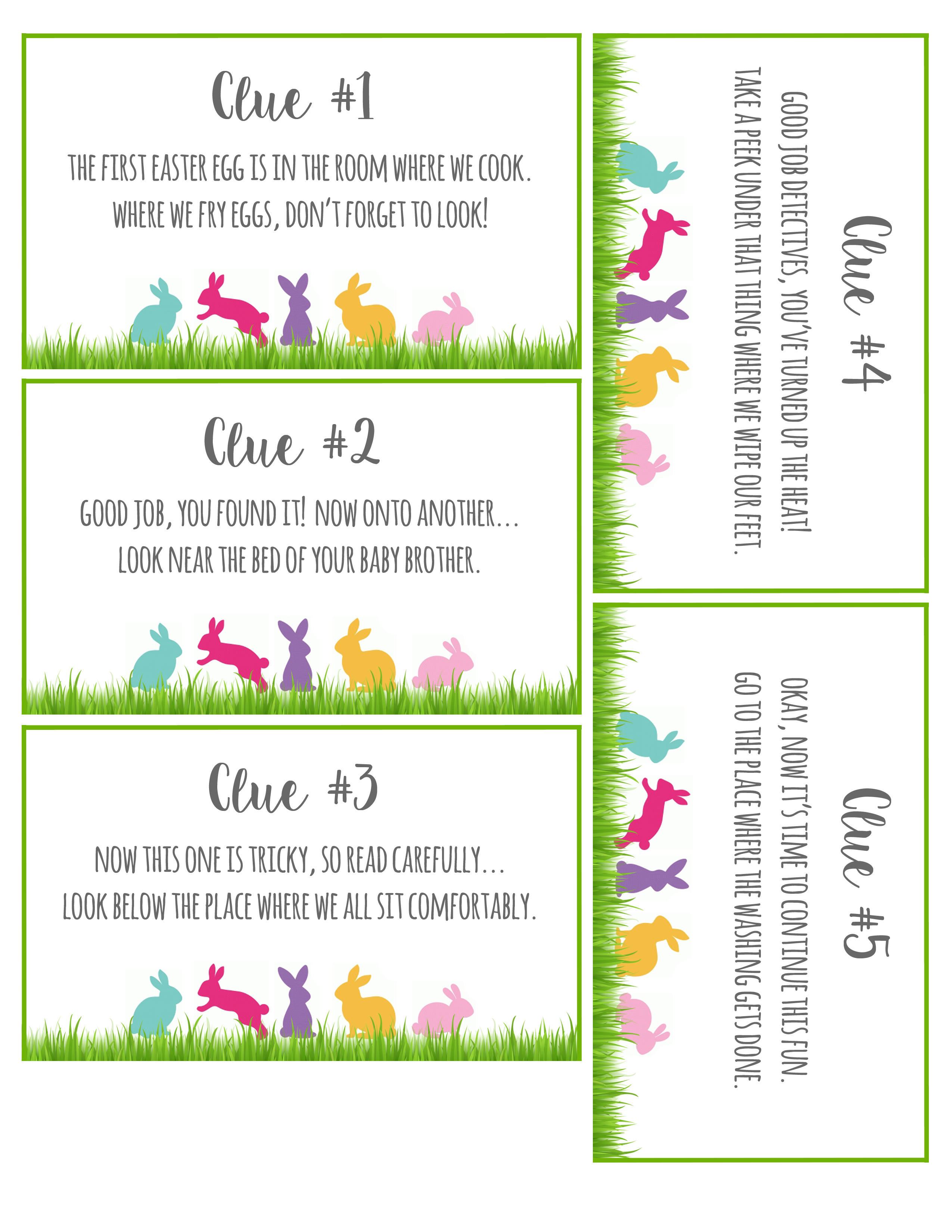 An Easter Egg Scavenger Hunt — with HATCHIMALS (…printable clues included!!)