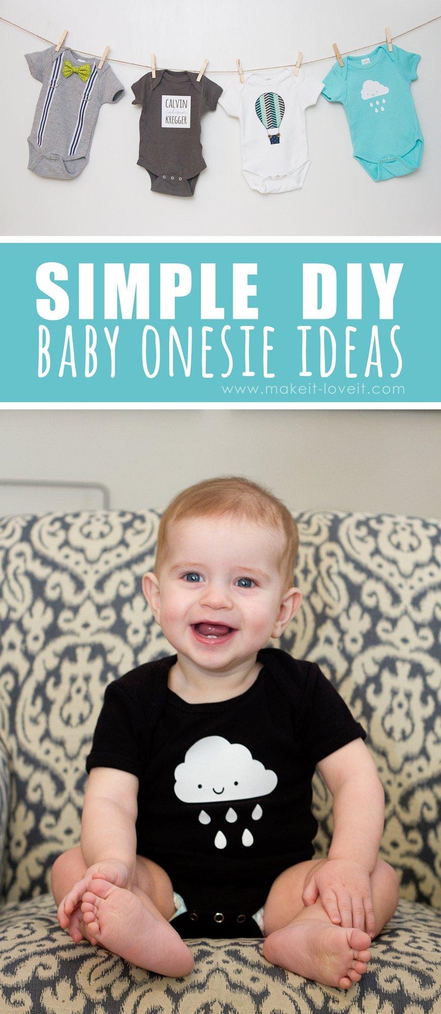 Simple DIY Baby Onesie Ideas