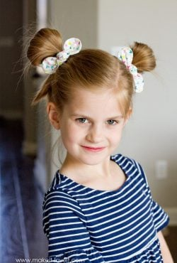DIY Fabric Knot Hair Bows & Hairstyle Ideas!